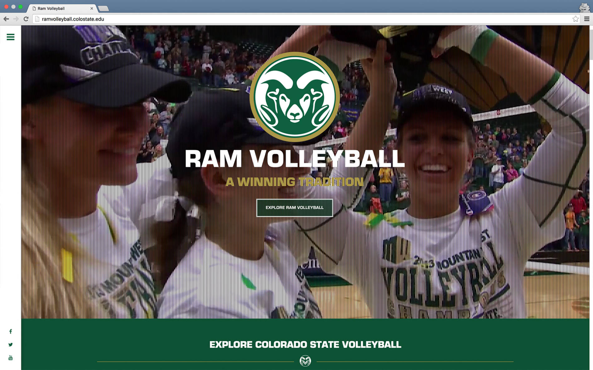 Ram Volleyball website screenshot